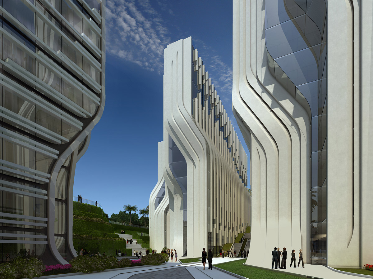 Stone Towers Zaha Hadid Architects