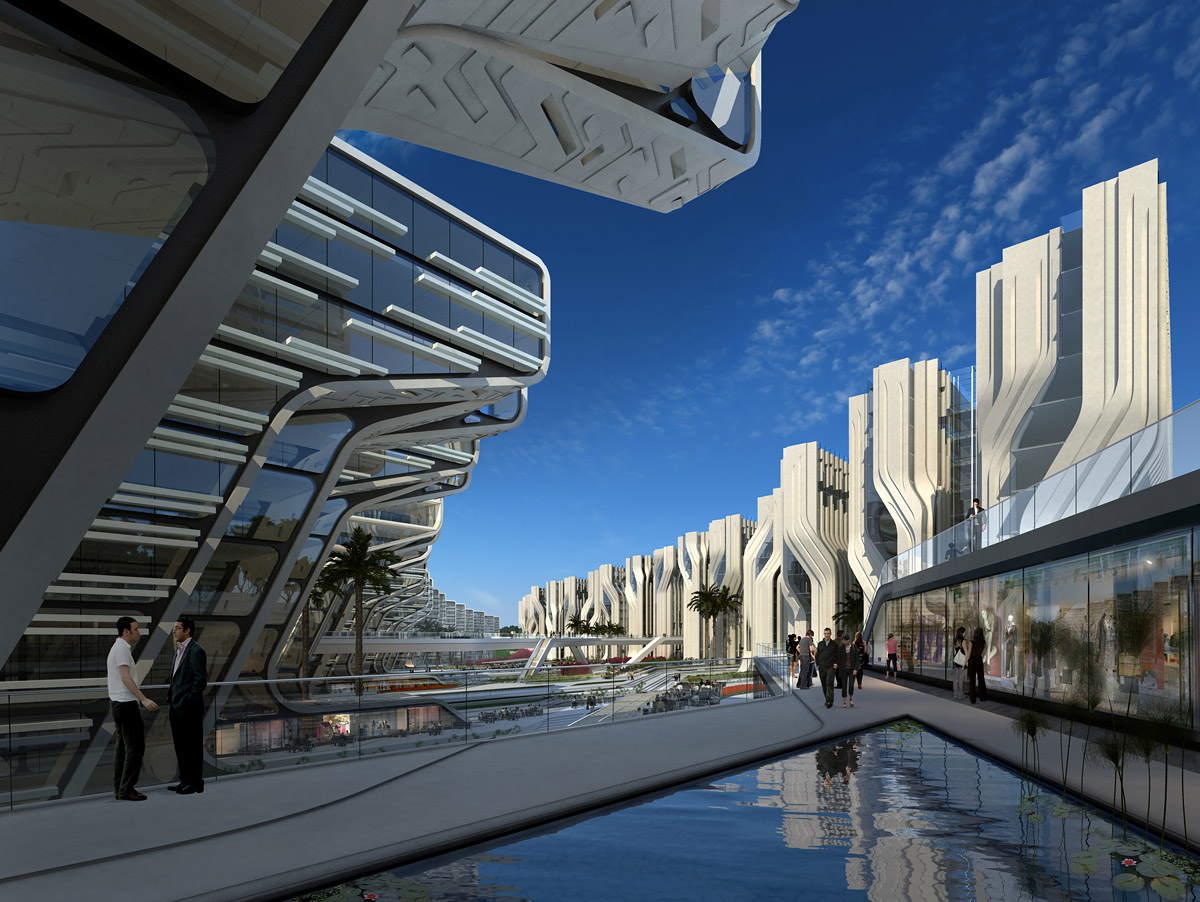 Stone towers zaha hadid architects for Architecture design company