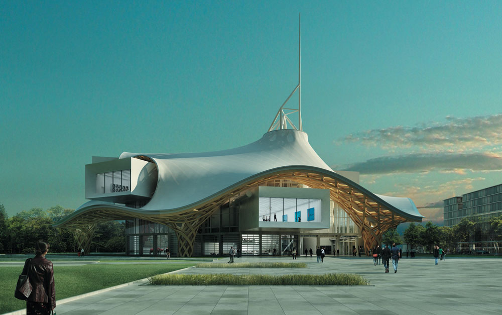 Pompidou center metz project in france by shigeru ban for Metz architects