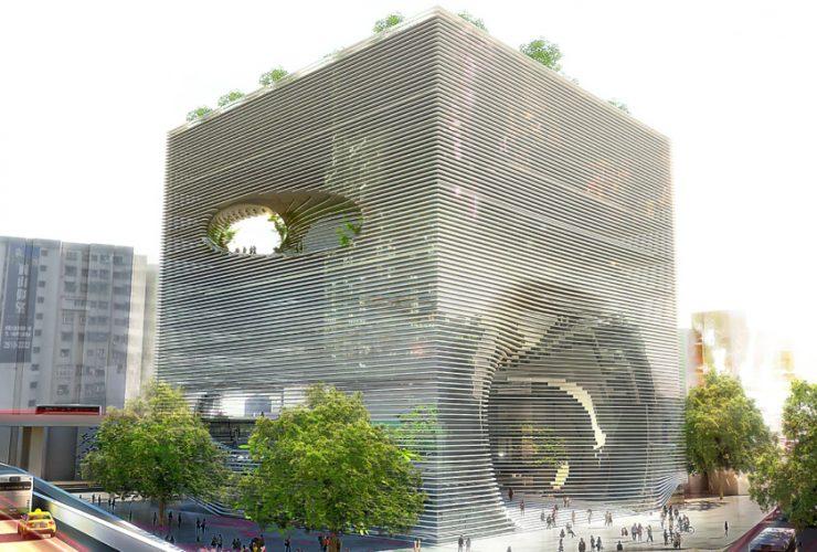 tek cube building in taiwan/ big architects