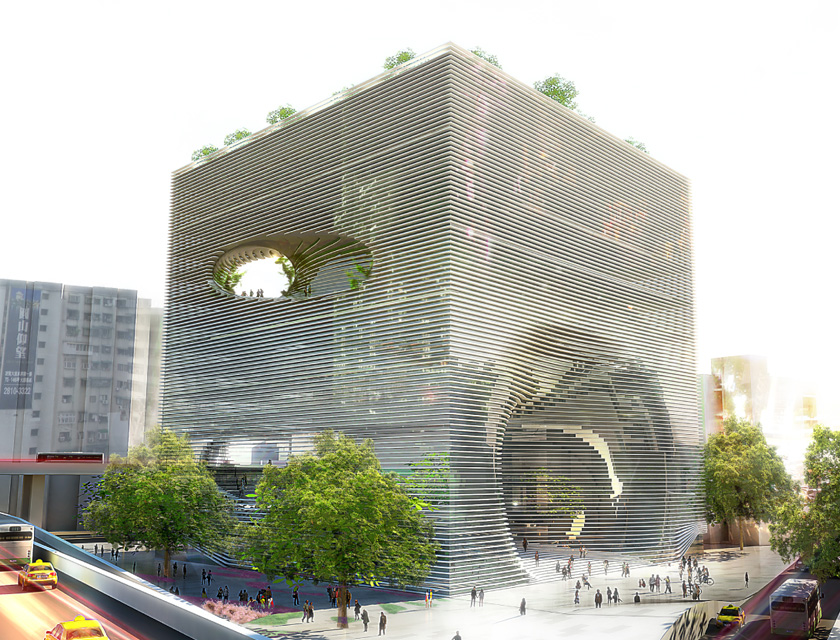 tek cube building in taiwan/ big architects