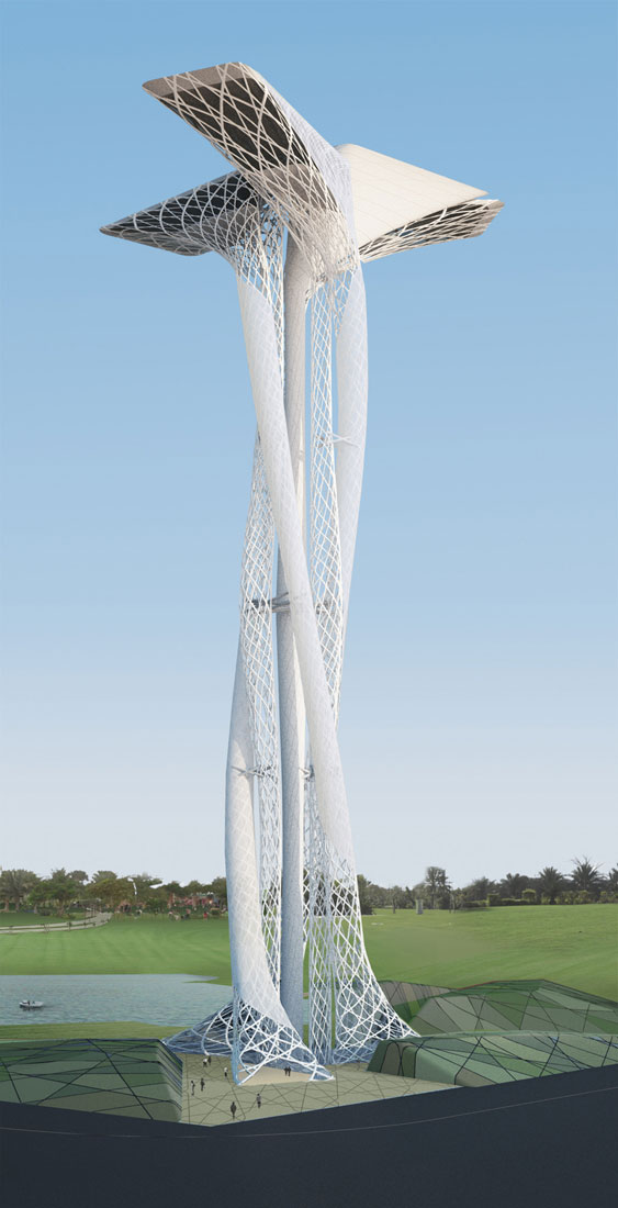 Dubai observation tower by xten architecture for Observation tower plans