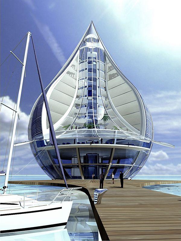 Sustainable Waterscraper Resort 04