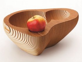 wooden fruit bowl photo 03