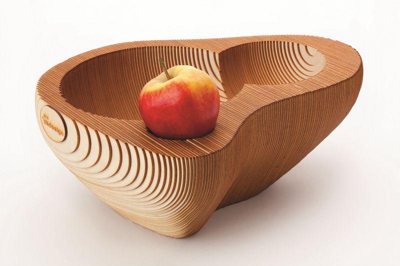 wooden fruit bowl photo 03