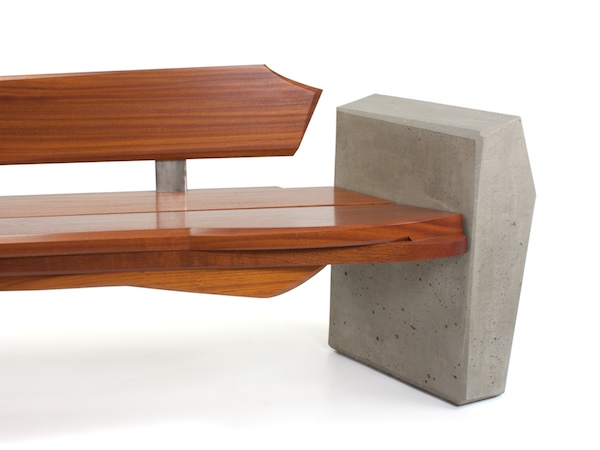 Sculptural Outdoor Bench Nico Yektai