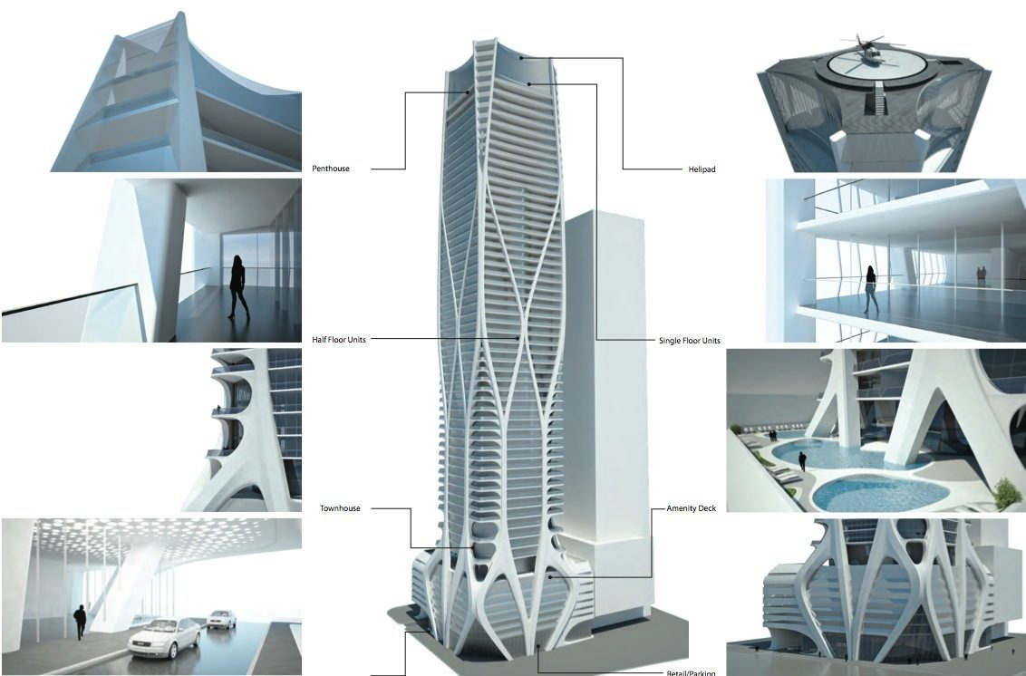 One thousand museum tower in miami zaha hadid for Design architect