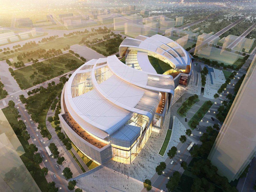 Olympia 66 shopping mall in dalian china aedas for The olympia