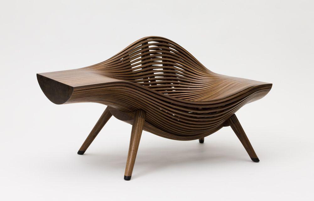 Bae se hwa steam parametric chair design wavy chair - Muebles de diseno vintage ...