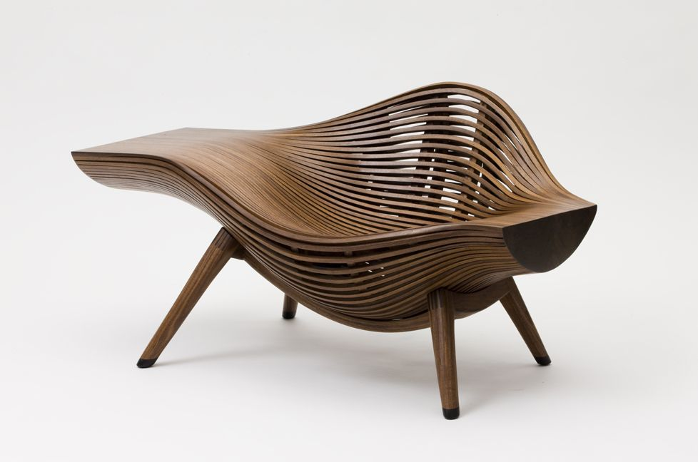 bae se hwa steam parametric chair design wavy chair