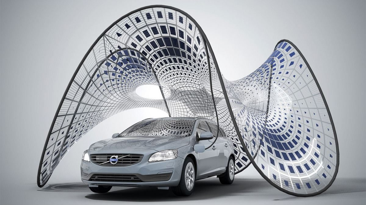 Pure Tension Pavilion - Volvo electric car charger