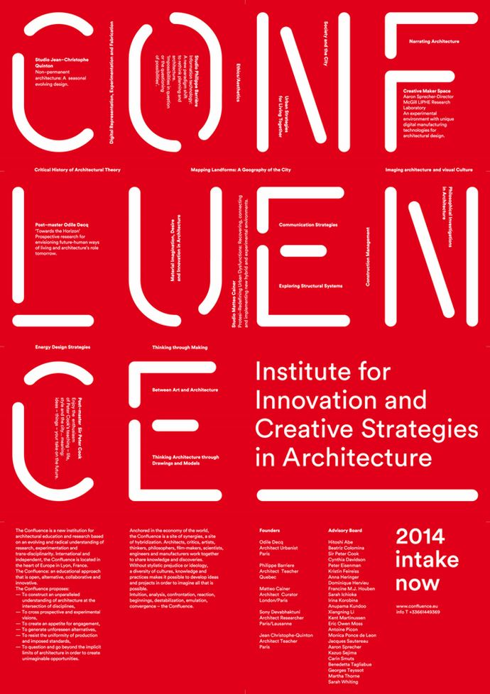 "A New Innovative Architecture school ""Confluence Institute"""