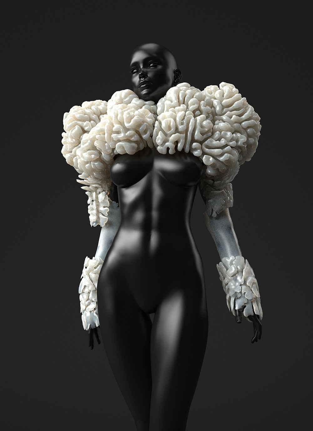 """3d printed wearable capillaries """"the wanderers"""" by neri oxman"""