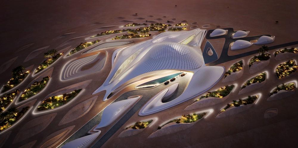 Zaha Hadid's Bee'ah Headquarters in Sharjah, UAE