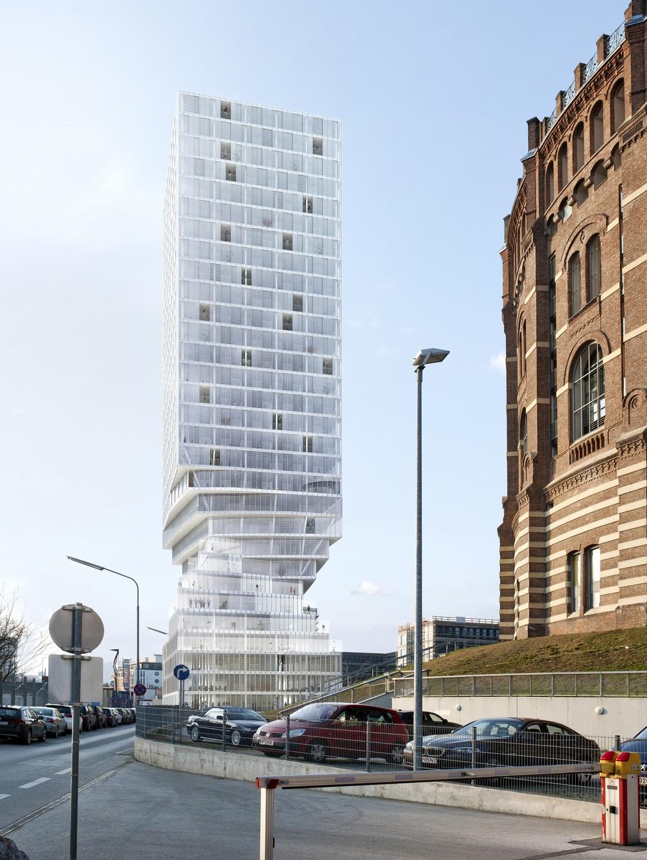 Hourglass Form Twisted Tower in Vienna MVRDV 3