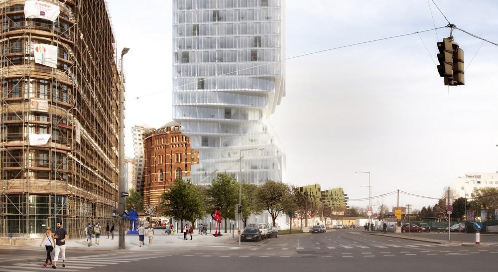 Hourglass Form Twisted Tower in Vienna MVRDV 4