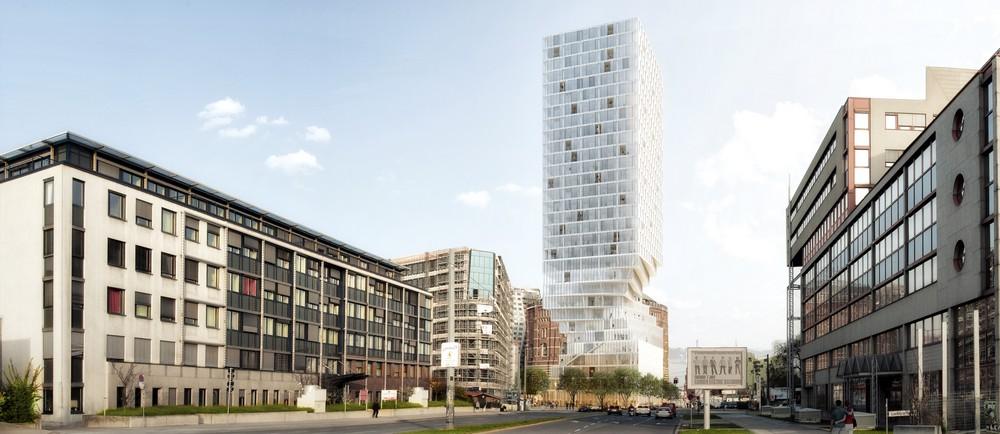 Hourglass Form Twisted Tower in Vienna MVRDV 5