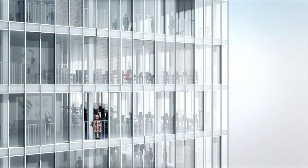 Hourglass Form Twisted Tower in Vienna MVRDV 6