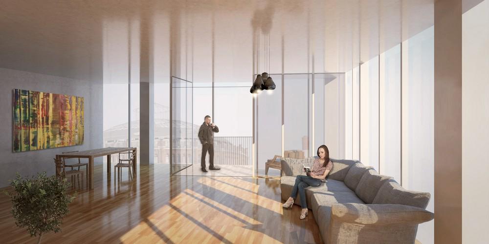 Hourglass Form Twisted Tower in Vienna MVRDV 8