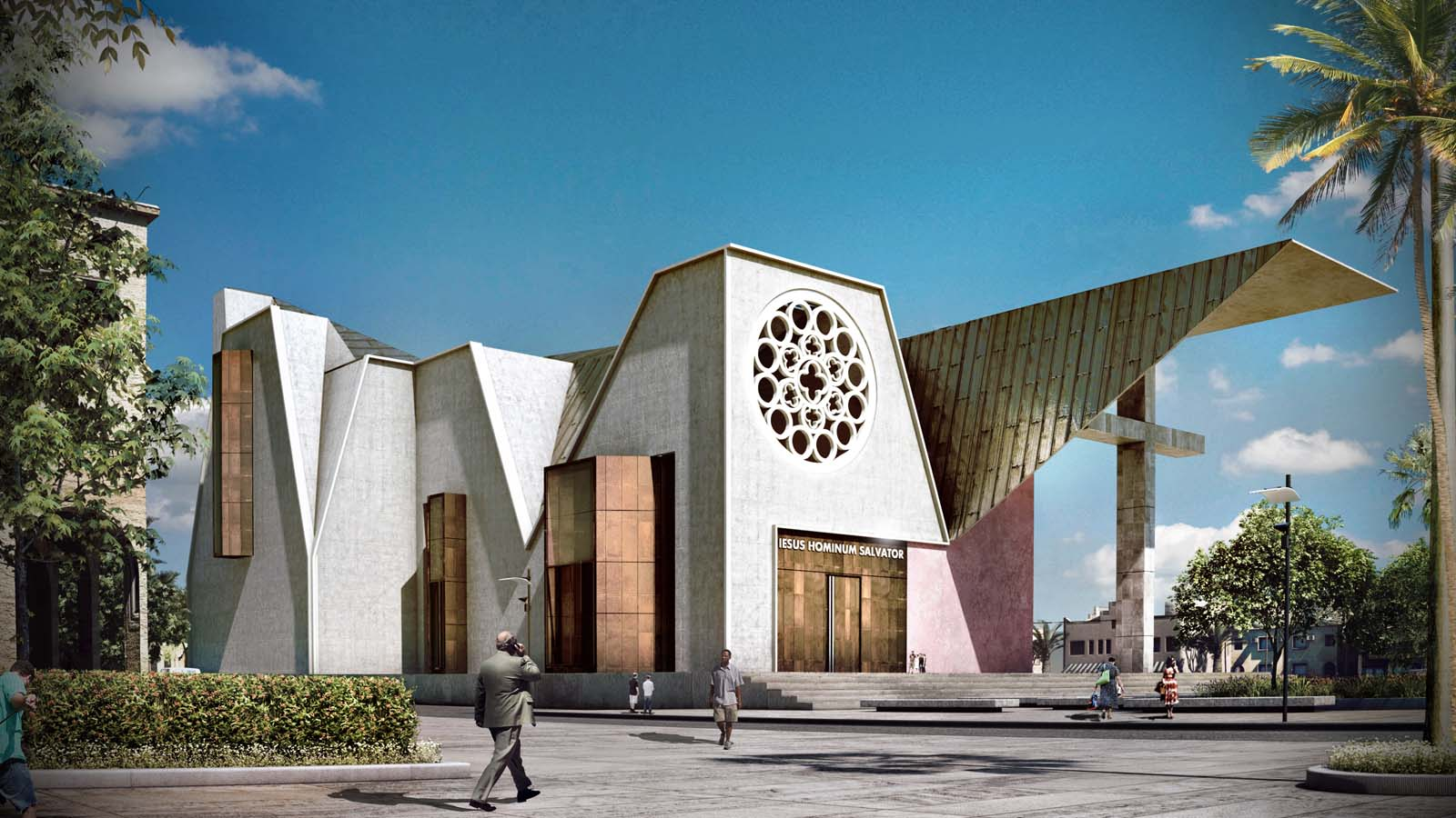 Haiti cathedral design the result of two opposite for Is architecture