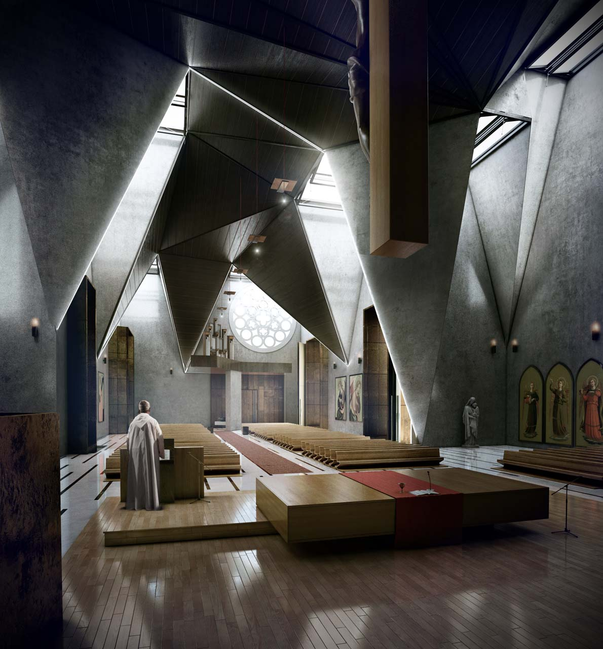 Urban Office Architecture: Haiti Cathedral Design: The Result Of Two Opposite