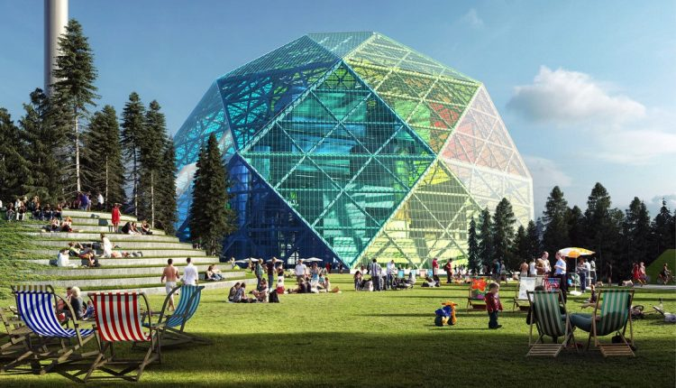 Uppsala Diamond Dome: A Power Plant by BIG
