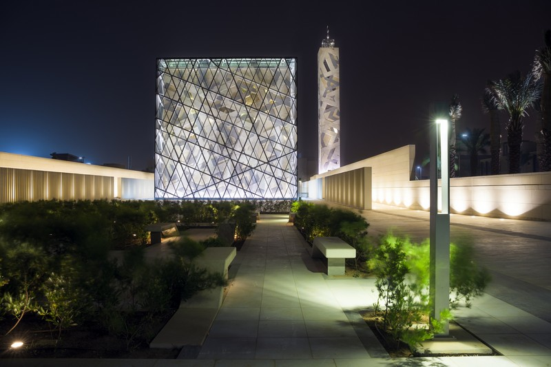 Cube Shaped Mosque Levitating Above Water In Riyadh Hok