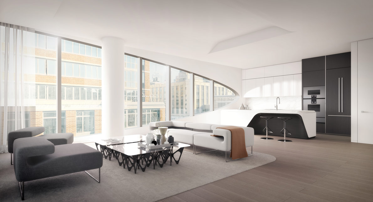 Inside zaha hadid 39 s 520 west 28th residences in new york for Zaha hadid new york apartment