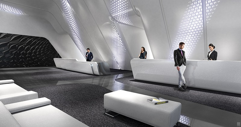 Interior renders of zaha hadid 39 s one thousand museum in miami for Interior design zaha hadid