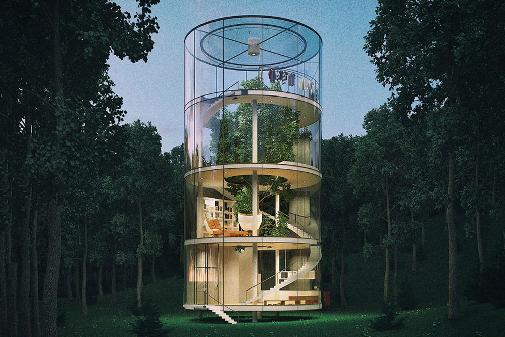 modern tree house plans. Tree In The House \u2013 A Modern Design Plans O