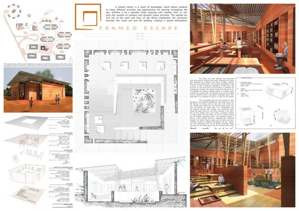 1st prize winning design is Framed Escape by the design team of Maude Cannat and Rachel Méau in France