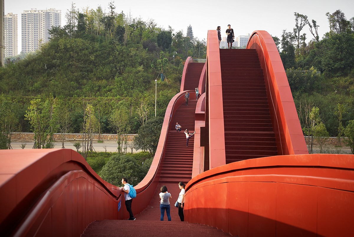 NEXT Architects Lucky Knot bridge in China