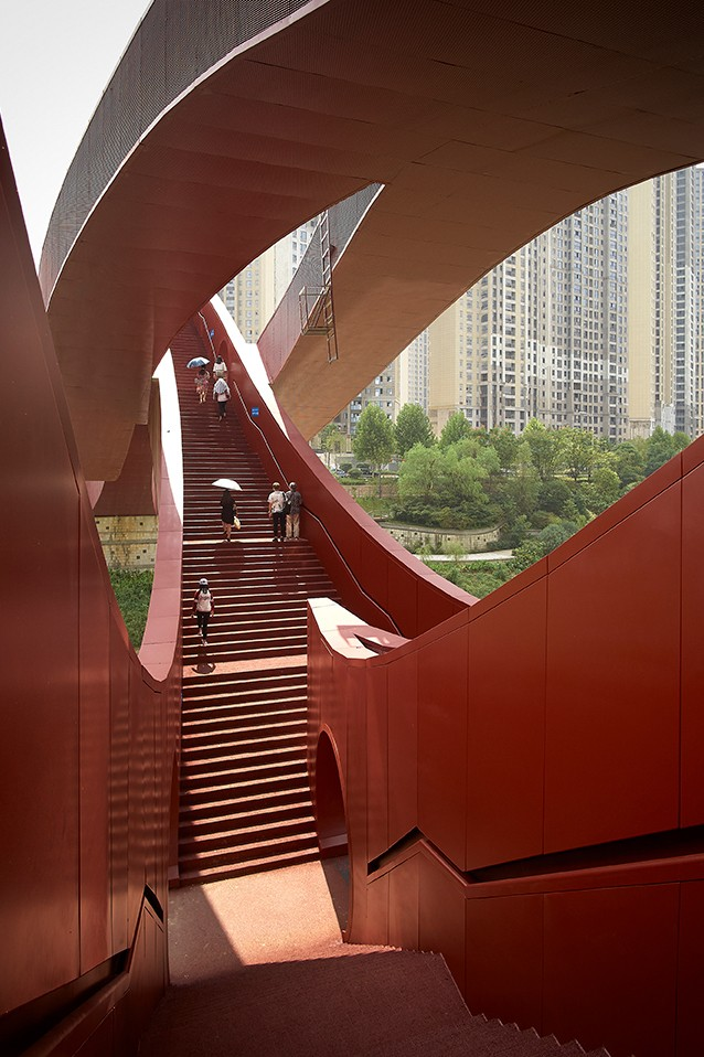 Steel Lucky Knot bridge in China