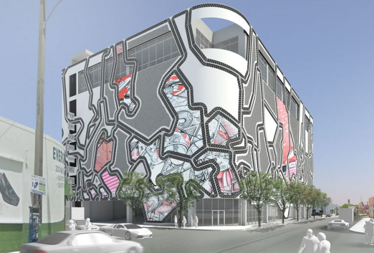 aulders Studio's Wynwood Garage Facade in Miami, Florida