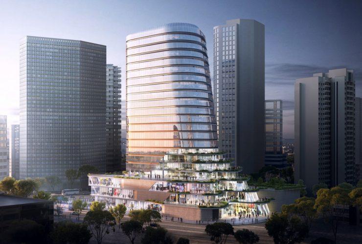 Aedas Gemdale Changshou Road Commercial Tower Shanghai, China