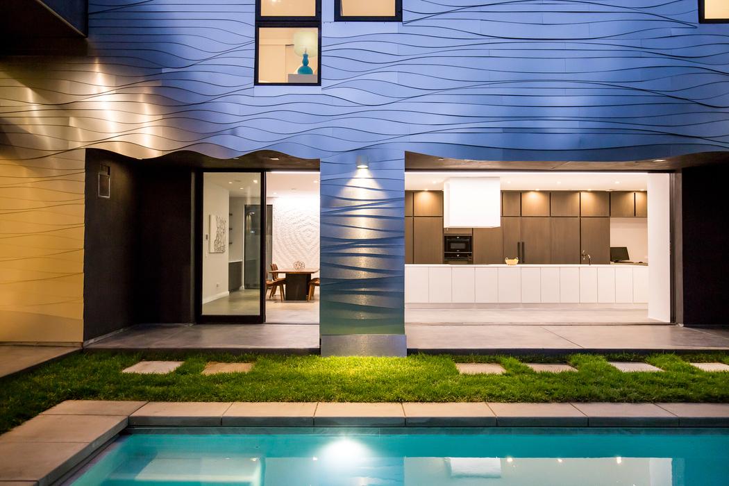 Parametric Skin Mario Romano Wave House California - Pool View