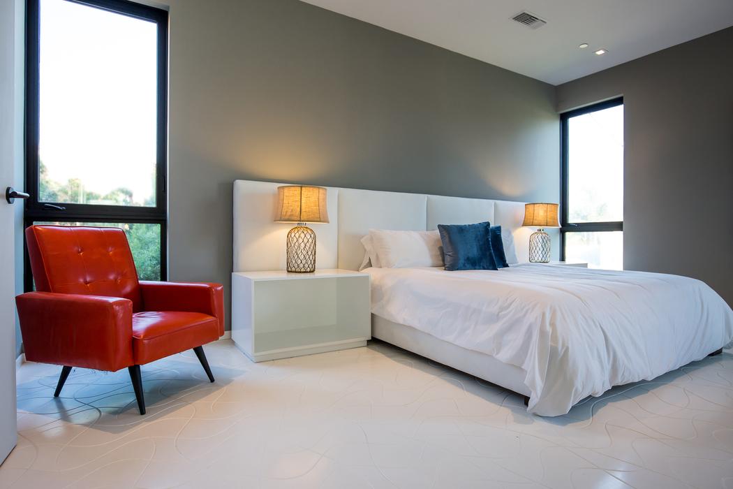 Parametric Skin Mario Romano Wave House California - Bedroom