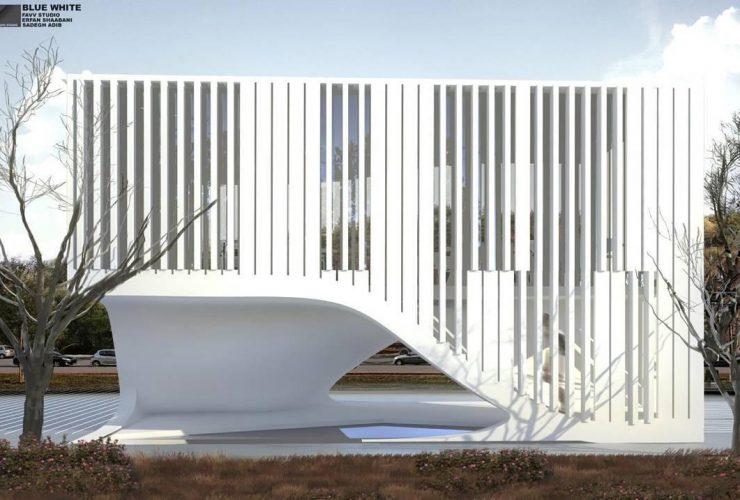 Blue White Restaurant Design