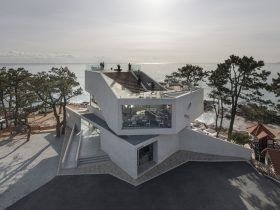 Gijang Waveon Cafe by IDMM Architects in Busan, South Korea
