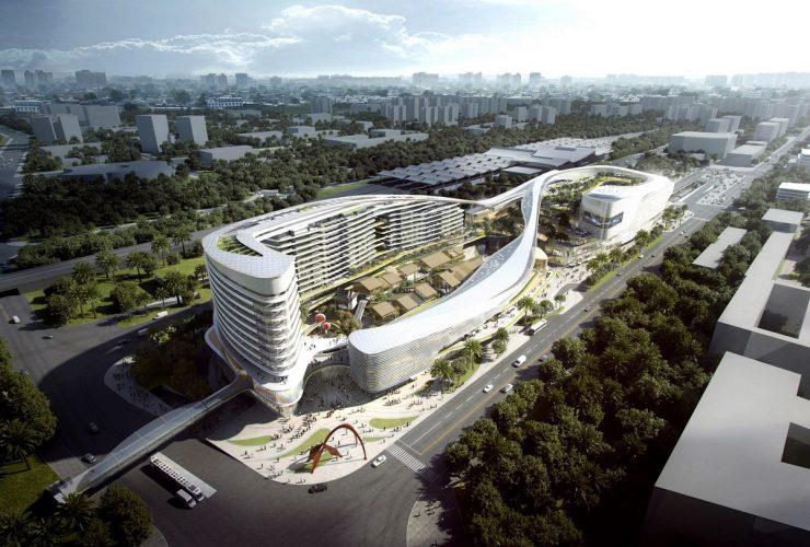 Sanya Integrated Commercial and Transportation Hub, Sanya, China, designed by Aedas