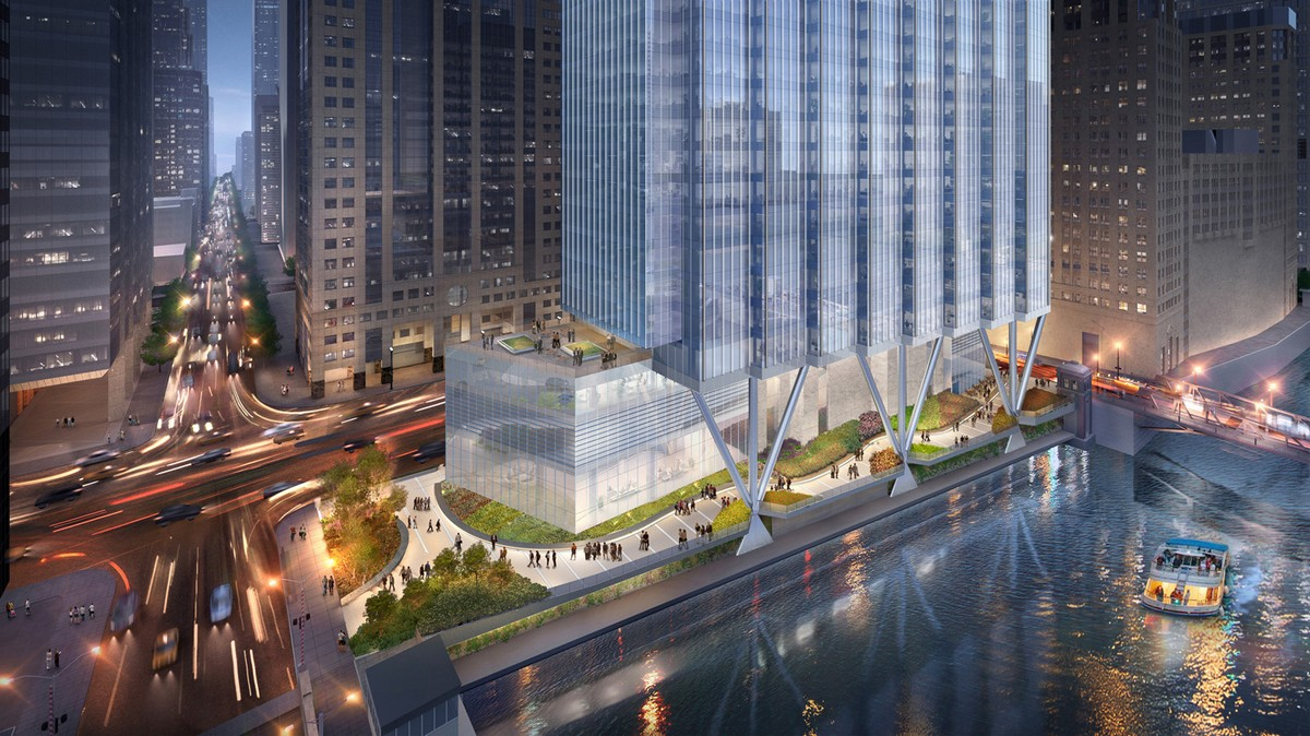 A 51-story Office Tower to be built at 110 North Wacker Drive in Chicago